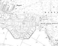Hi-resolution map of Bexley Hospital - from 1933